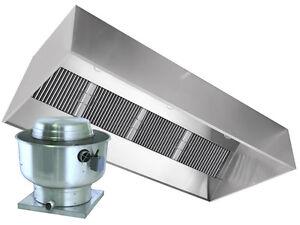 Restaurant Kitchen Vent Hood restaurant hood with exhaust fan 6ft exhaust only vent hood | ebay