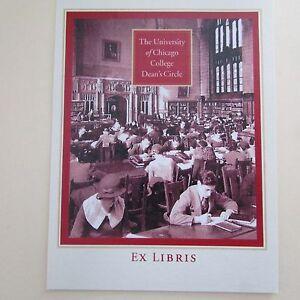 University-of-Chicago-College-Dean-039-s-Circle-Ex-Libris-Vintage-Bookplates-Lot