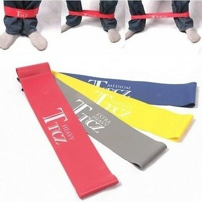 4 sets New Ankle Resistance Bands Fitness Loop Workout  Leg Butt Lift Exercise