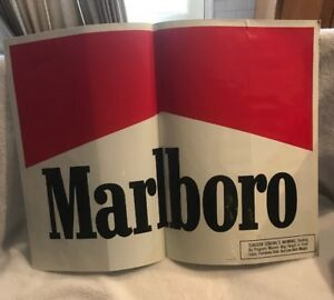 SIGN-22-034-x-30-034-Marlboro-Cigarettes-Tobacco-Advert-Sticker-Sign-Vintage