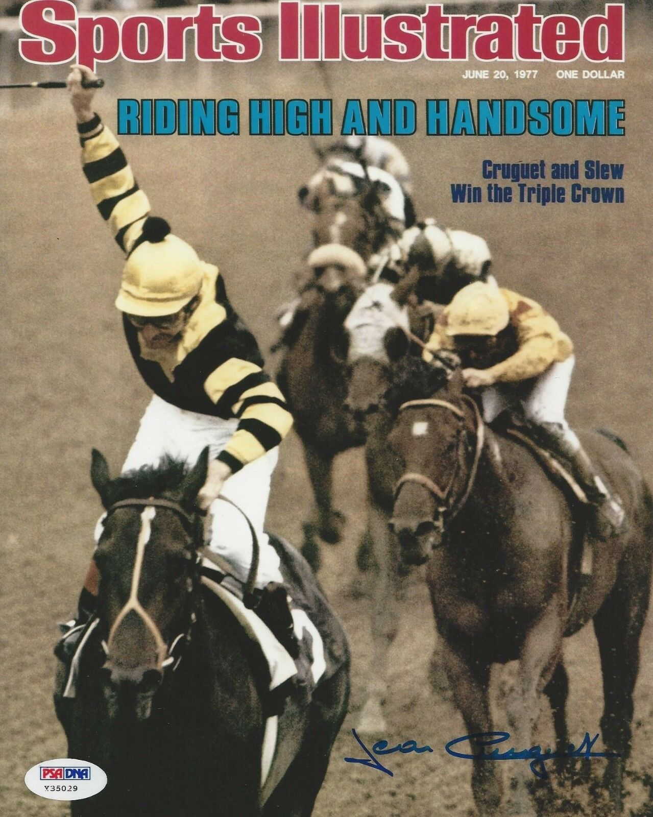 Jean Cruguet Horse Racing Jockey Signed 8x10 Photo - PSA/DNA # Y35029