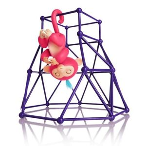 Monkey-Interactive-Baby-Playset-Fingerlings-Gym-Jungle-Purple-Climbing-Stand-Toy
