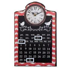 Uhr Clayre Eef Nostalgie Old Town Shabby Eisen Kalender Vintage Antik 25*4*38 cm