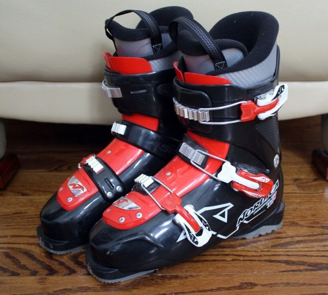 NORDICA TEAM 3 FIREARROW SKI BOOTS SIZE 25.5 YOUTH SIZE 9  355
