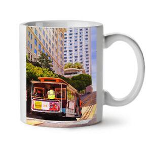 Tram USA Street Life City NEW White Tea Coffee Mug 11 oz | Wellcoda