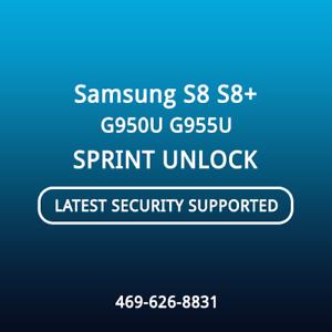 Details about Samsung S8/S8 Plus G950U/G955U Sprint ANDROID 8 0 Remote  Unlock Service