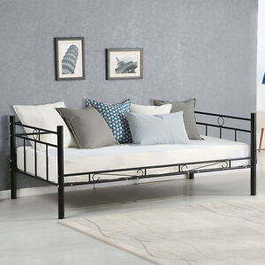 Image Is Loading Twin Size Daybed Sofa Bed Metal Frame Solid
