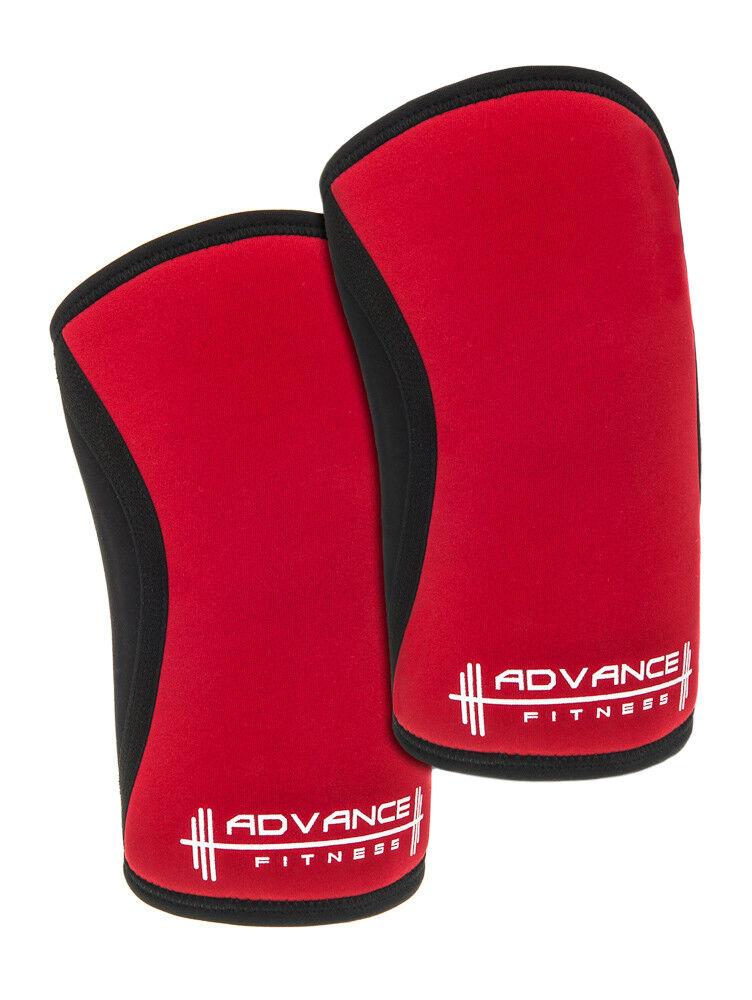 Anticipo Fitness-Levantamiento de Pesas Rodilla Mangas-De Hombre Rojo Negro-ayuda de la rodilla