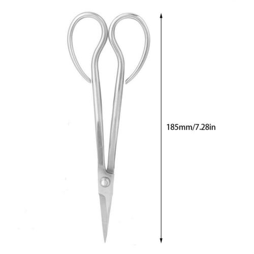 Stainless Steel Bonsai Scissors Bonsai Shear Long Handle Scissors 185mm HG