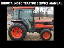KUBOTA L4310 WORKSHOP SERVICE MANUAL -650pg for L-4310 Tractor Rebuilding Repair