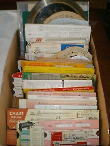 Perrygraf-and-others-Calculator-Slide-Rule-Chart-Guides-Lot-of-135
