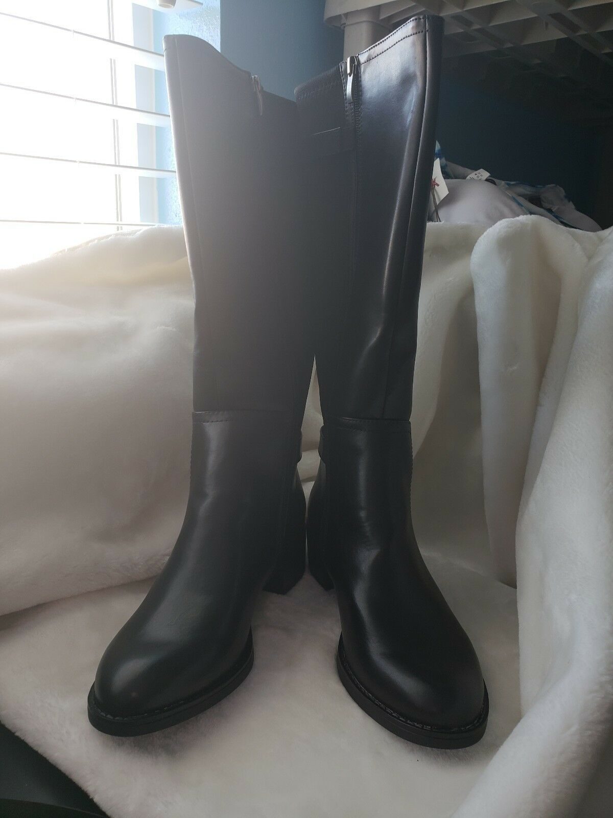 NEW Franco Sarto CIDER BootS Black Ridding New SZ 8.5