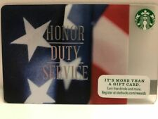 "New No Value Starbucks /""HONOUR DUTY SERVICE 2014/"" Gift Card"