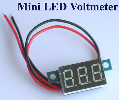Mini Digital Panel-Meter Voltmeter LED Spannungsanzeige Panelmeter 3.3-30V Rot