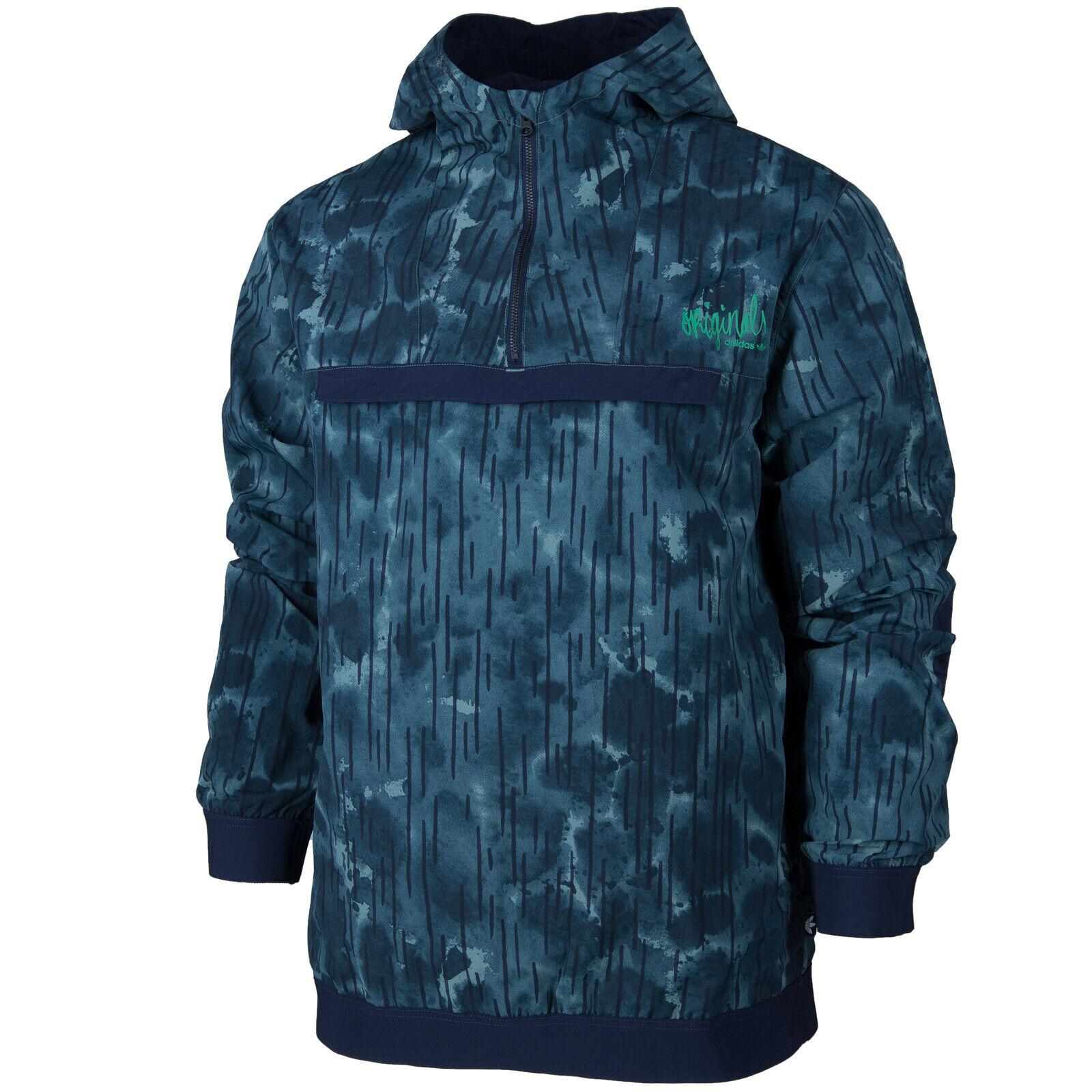 Adidas Originals Street Windbreaker Hooded Men's Jacket Trefoil Rainproof F77872