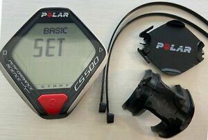 CARDIOFREQUENZIMETRO POLAR CS500 + supporto per i montaggio al manubrio Bici