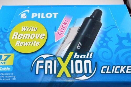 10 X PILOT CLICKER FRIXION ERASABLE  PENS  ROLLERBALL PENS 0.7mm TIP COLOURFUL