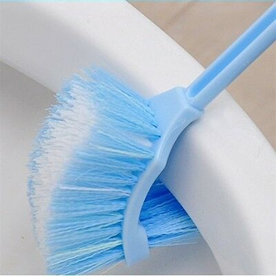 Plastic Long Handle Bathroom Toilet Bowl Scrub Double Side Cleaning Brush UL