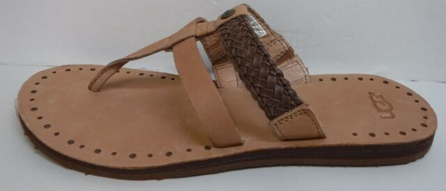 UGG Australia Size 9 Brown Tan Leather Sandals New Womens Shoes