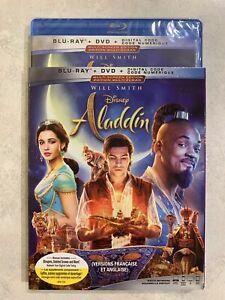 Aladdin-2019-Live-Action-Blu-Ray-amp-DVD-w-Slipcover-Canada-Bilingual-NO-DC-LOOK