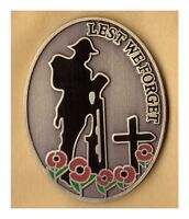 NEW DESIGN POPPY Enamel pin BADGE LEST WE FORGET  British Army remember them a
