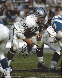Jim-Otto-Autographed-Oakland-Raiders-8x10-Photo-HOF-1980-Beckett