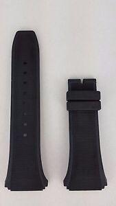 Watch-Strap-Breil-Milano-BW0377-BW0378-BW0379-Mediterraneo-Black-Rubber-Bracelet
