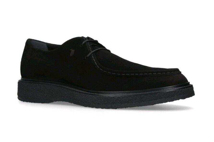 Tod's Crepe Wallaby LINEA uomo scarpe in pelle scamosciata NERO taglia EU 41.5