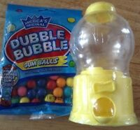 Bubble Gum Machine Yellow And Refills Gum Pack Old Candies