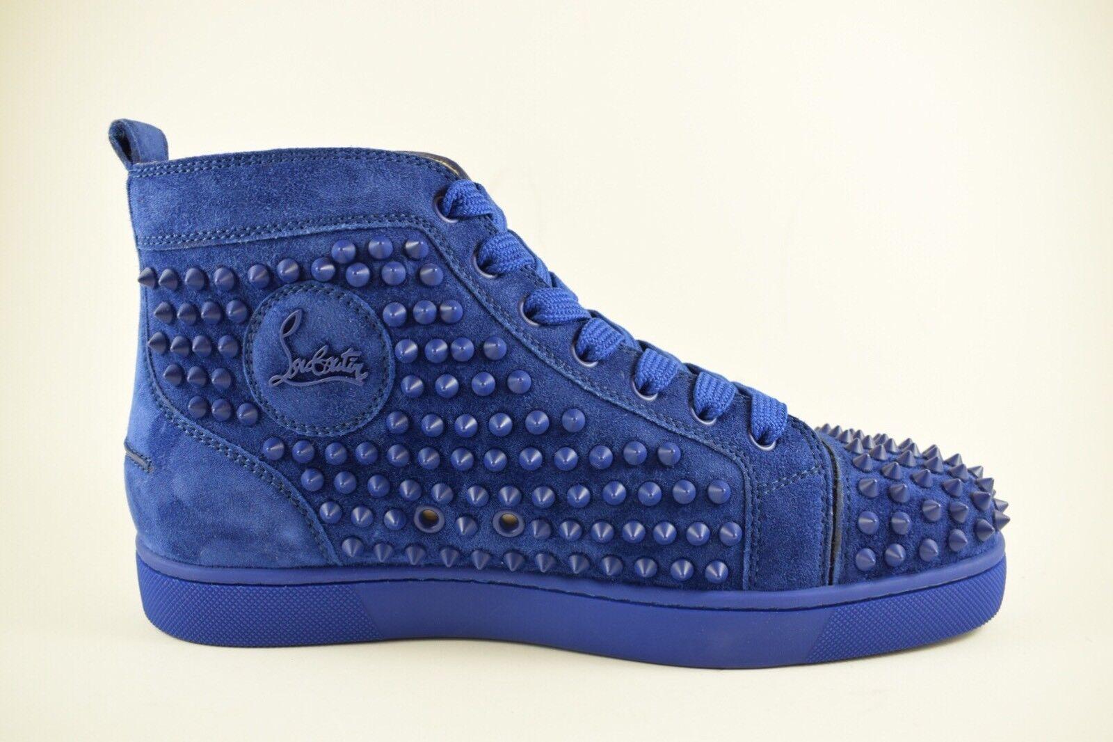Scarpe casual da uomo  Christian Louboutin Atlantic Blue Matte Louis Spikes Size 39