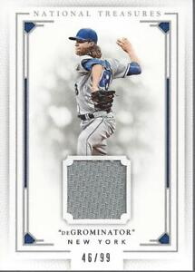 2016-National-Treasures-Material-Variations-105-Jacob-deGrom-Jersey-99-NM-MT