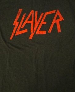 SLAYER-cd-cvr-DISTRESSED-RED-LOGO-Official-GREY-SHIRT-SMALL-new