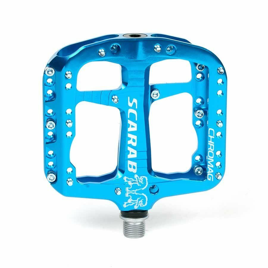 Chromag Scarab Platform pedals Bushing and sealed bearings Aluminium body bluee