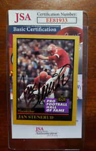 Jan-Stenerud-1991-Enor-Hall-Of-Fame-Jsa-Coa-Hand-Signed-Authentic-Autograph