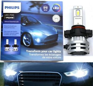 Philips-Ultinon-LED-48W-6500K-White-PSX24W-2504-Two-Bulbs-Fog-Light-Replacement