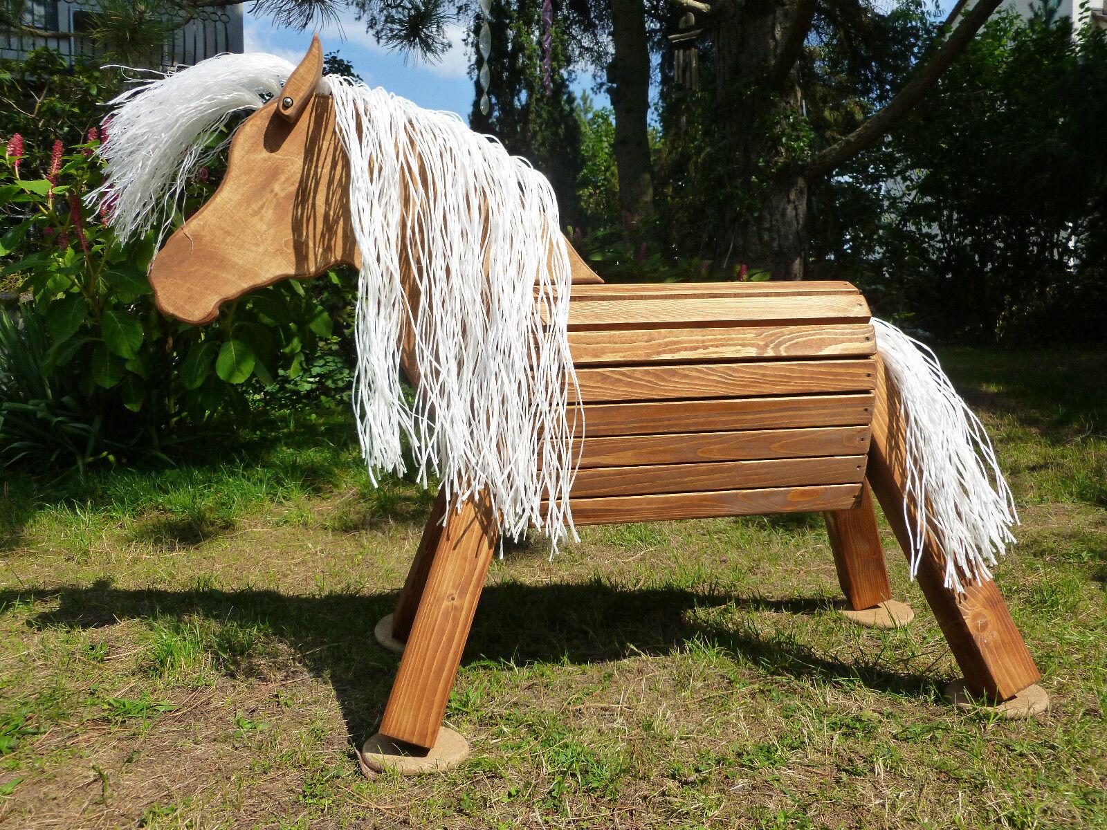 Schaukelspielzeug Holzpferd Spielpferd Holzpony