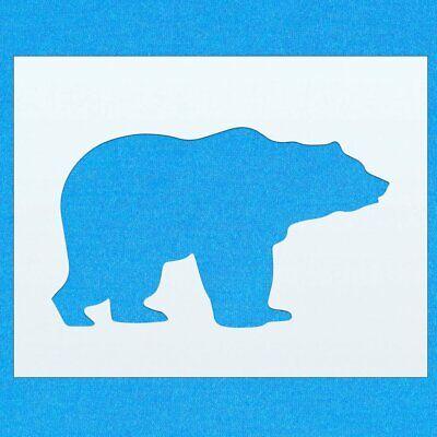 Bear Wild Animal Forest Mammal Mylar Airbrush Painting Wall Art Crafts Stencil 3