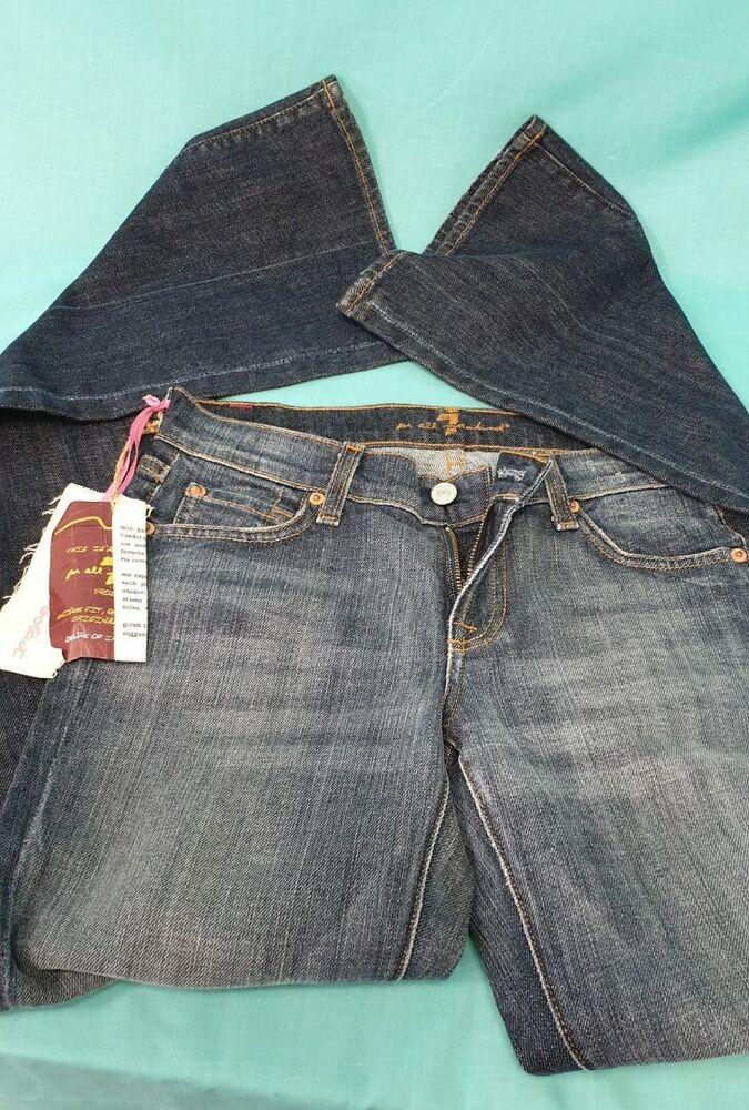 7 For All Mankind Femmes Jean Bootcut Bleu Taille 26 Femme Nouveau Étiquettes Prix De Vente Conseillé 140.00 £
