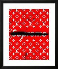 Anti Supreme X Louis Vuitton skateboard hype Urban CANVAS Street Poster Print