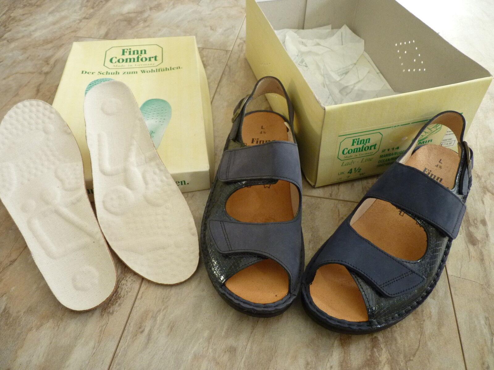 FINN COMFORT Izmir Damen Sommer Schuhe Sandalen 37,5 Klett Einlagen Gr.4,5 / 37,5 Sandalen NEU 1038ed
