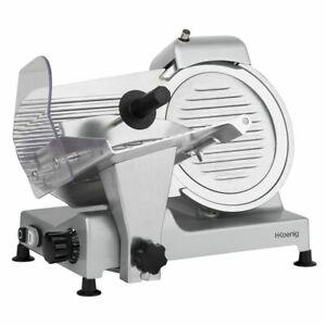 H-KOENIG-Allesschneider-Schneidemaschine-0-12mm-Messerschaerfer-240-Watt-silber