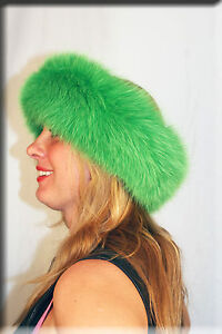 New Emerald Green Fox Fur Headband 26 Inches Long and 5 Inches Wide ... a807962e07e