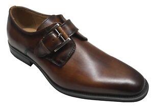 La Milano Men/'s Monk Strap Black Leather Dress Shoes A11890