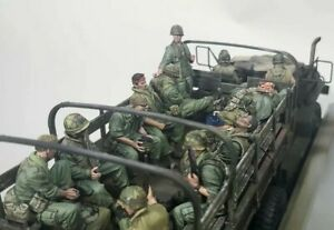 1-35-Scale-Resin-Figure-Model-Kit-USMC-Vietnam-War-11-Figures