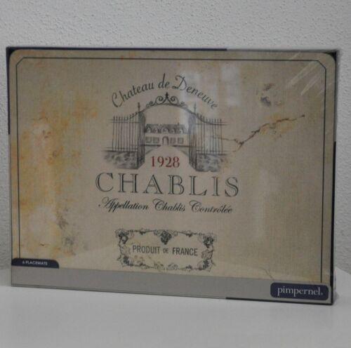 #10866a place de Coffre 2er Set Chablis Bordeaux Vin France Shabby Grande Pimpernel