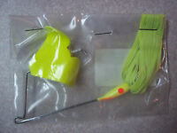 Humdinger Buzz-bait 1/4 Chartreuse 41b Top Water Buzzer Lure Big Bass
