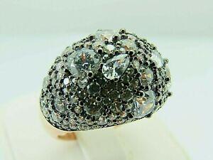 Turkish-Handmade-Jewelry-925-Sterling-Silver-Zircon-Stone-Women-Ring-Sz-7