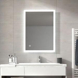 Details zu Led Bad Spiegel Badezimmerspiegel mit Beleuchtung Touch  Lichtspiegel 60x80/80x60
