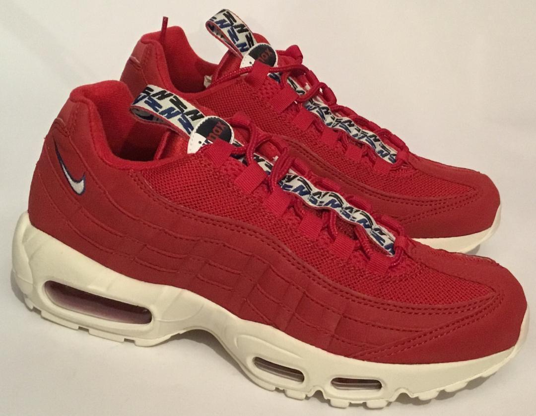 0bfff93859 Nike Air Max 95 TT Trainers - Gym Red - 600 - Men's Size 40.5 AJ1844 -  ntrudb8304-Athletic Shoes