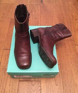 cuero marrón 2 1 Kerry 4 para Clarks mujer tamaño Marie Botines pvSOwFqq